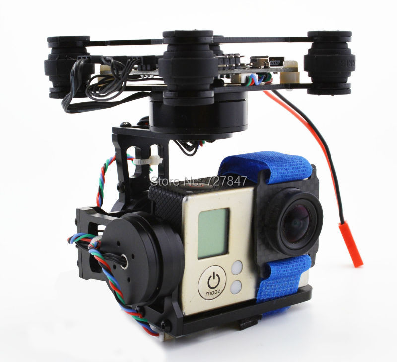 RTF CNC FPV 3 Axis Brushless Gimbal W/ 2204 2805 Motor & Storm32 Controlller for Walkera X350 Gopro 3 fpv 3 axis cnc metal brushless gimbal with controller for dji phantom camera drone for gopro 3 4 action sport camera only 180g