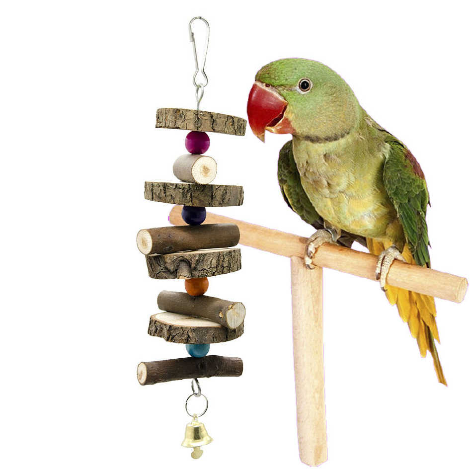 Traumdeutung Parrots Toys For Bird wood Accessories Cockatiel And Perch Budgie Parakeet Cage Decoration jouet pour perroquet