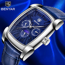BENYAR Men's Watches Quartz Wristwatch Mens Watches Top Luxury Brand Watch Men Business Watch Men Waterproof Relogio Masculino стоимость