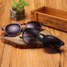 Новинка, брендовые дизайнерские женские солнцезащитные очки, модные, круглые линзы, классический стиль, имитация дерева, оправа, Ретро стиль, женские солнцезащитные очки, Gafas de sol