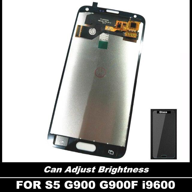 100% probado LCD para Samsung Galaxy S5 i9600 G900 G900F G900A teléfono LCD con la pantalla táctil pantalla digitalizador Asamblea