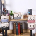 Linen Cotton Table organizer Desk hanging bag Office storage bag Sundries organizer Cat kitten kitty organizing pocket holder