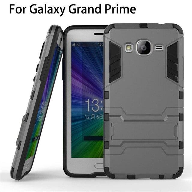 3391fc0d2e1 2 en 1 Armor funda protectora de teléfono para Samsung Galaxy Grand Prime  cubierta trasera protector