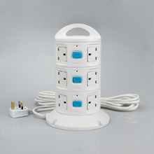 цена на British standard switch extension cable 1.8M/3M/5M vertical socket for family / hospital / school / conference room
