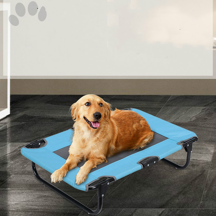 Pet supplies wrought iron removable and washable breathable dog mattress teddy golden hair pet portable folding bed ZP4121604 - 4