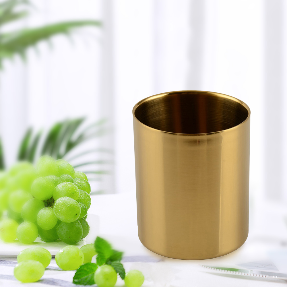 400ml Stainless Steel Cup Wine Beer Mug Coffee Cup Whiskey Milk Mugs Outdoor Travel Camping Metal Cup Gold Mugs Drinkware