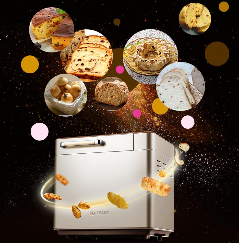 NEW type !!! DL-TM018 home use Full-automatic bread maker Multi-function intelligent Bread baking machine new hot steamed bread machine home full automatic intelligent and noodles cake rice bag bread makers amb 512 bread machine 220v