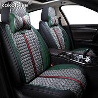 kokololee Cloth car seat covers for seat alhambra altea ibiza 6l 6j leon mk2 mk3 toledo ateca arona heater Automobiles Seats