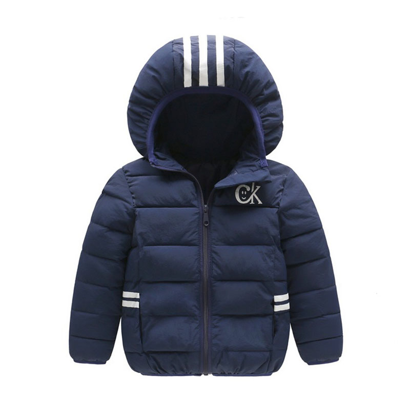 Hooded Solid Cotton Feather Brand Children Parkas  4-14T Winter Kids Outerwear Boys Casual Warm Striped Down Coats Hot Sale children winter coats jacket baby boys warm outerwear thickening outdoors kids snow proof coat parkas cotton padded clothes