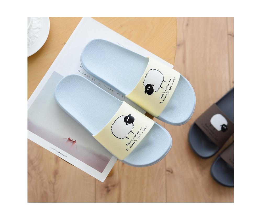 ASIFN Women Slippers EVA Men Slides Couple Cute Sheep Indoor Summer Loves Shoes Zapatos Mujer Flip Flops 34