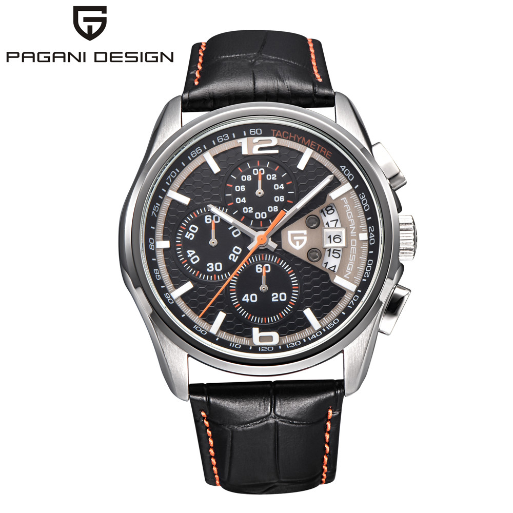 Watches Men Luxury Brand Multifunction Quartz Chronograph leather strap Sport Watch Stainless steel shell Casual Watch Relogio carnival watches men luxury brand multifunction quartz men chronograph sport watch dive 30m casual watch relogio masculino