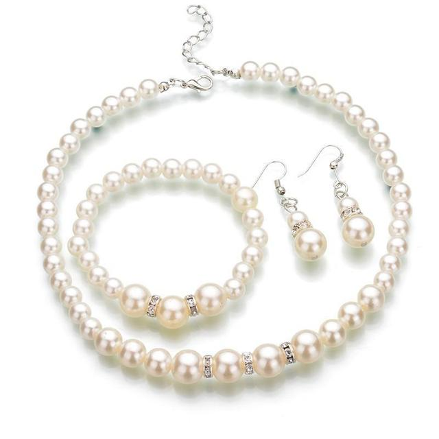African jewelry fashion classic personality wild imitation pearl necklace bride