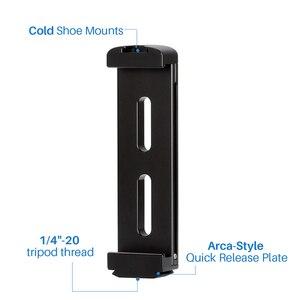 Image 4 - Ulanzi soporte de trípode de aluminio para tableta, almohadilla de montaje en Zapata fría, soporte de Clip, tornillo 1/4 para iPad Pro Mini, la mayoría de las tabletas
