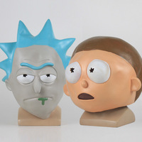 Anime Rick and Morty Cosplay Mask Helmet Cute Full Face Head Latex Hood Masks Masquerade Halloween Women/Men Party Props