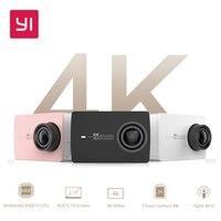 YI 4K Action Camera Set 2 19 LCD Screen 155 Degree EIS Wifi Black International Edition
