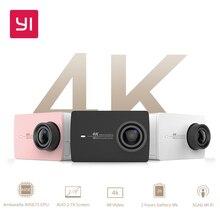 YI 4K Action Camera Bundle 2.19″ LCD Tough Screen 155 Degree EIS Wifi Black International Edition Ambarella A9SE75 12MP CMOS