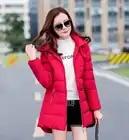 2018 nueva oferta parkas de talla grande con sombrero negro azul marino gris rojo abrigos chaquetas de invierno para mujer - 5