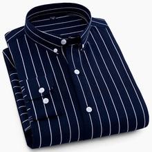 Striped Business Shirt Men 2018 New Fashion Dress Men Shirt Long Sleeved Casula Men's Shirts camisa masculina