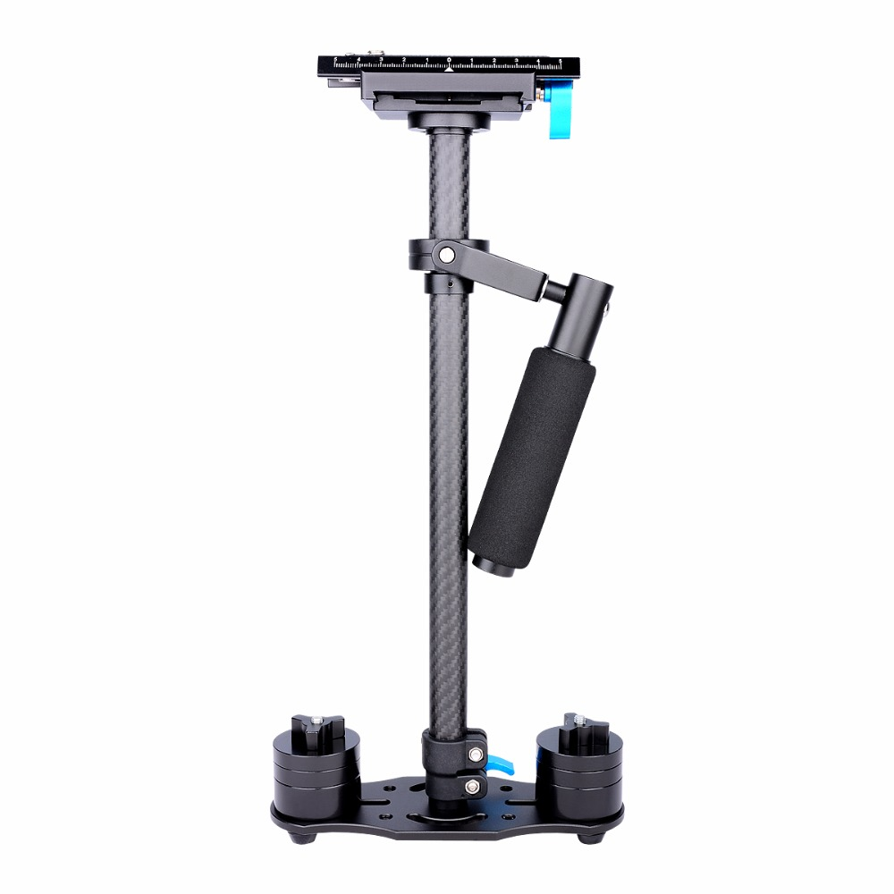 Professional Carbon Fiber DSLR Video Camera Handheld Stabilizer-Black Color ashanks mini carbon fiber handheld