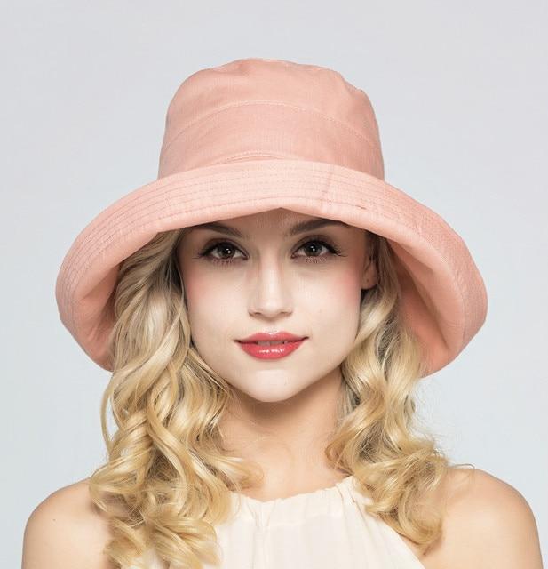 73ad5df4df6a5 Dama elegante Sombrero para el Sol Sombreros para el Sol Que Ensanchan  Diseño de Moda UV