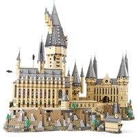 Лепин 16060 Гарри фильм Поттер Волшебный школьный Legoinglys 71043 Замок Хогвартс Набор строительных блоков модели, игрушки для детей Рождественский