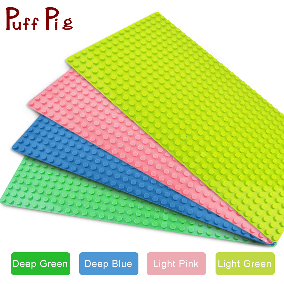 2Pcs/set 32*16 dots Big Blocks Base Plate 51*25.5 cm DIY Baseplate Building Blocks Compatible Legoed Duploe Toys For Children new base plate 32 16 dots big size blocks baseplate compatible legoes duploe 51 25 5 cm diy building blocks base for kids gifts