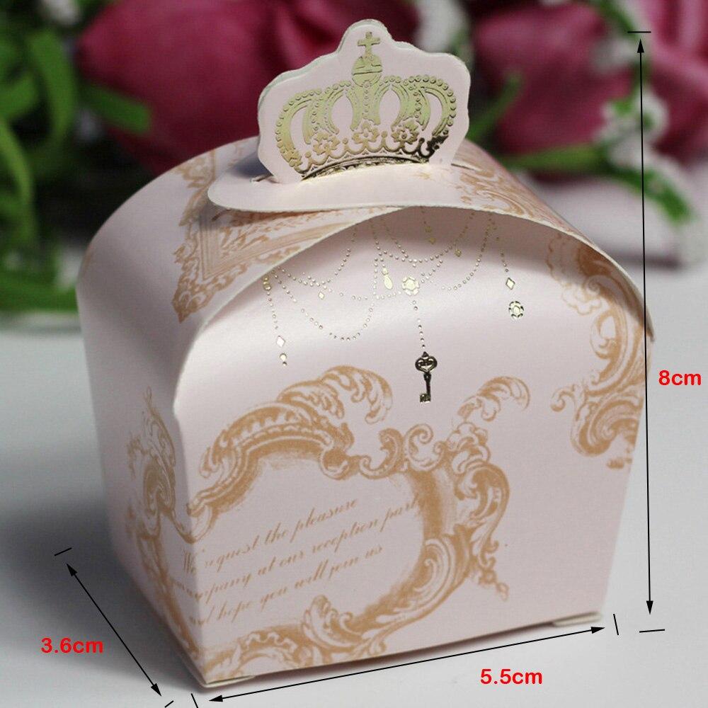 100pcslot Imperial Crown Bonbonniere Casamento Candy Box