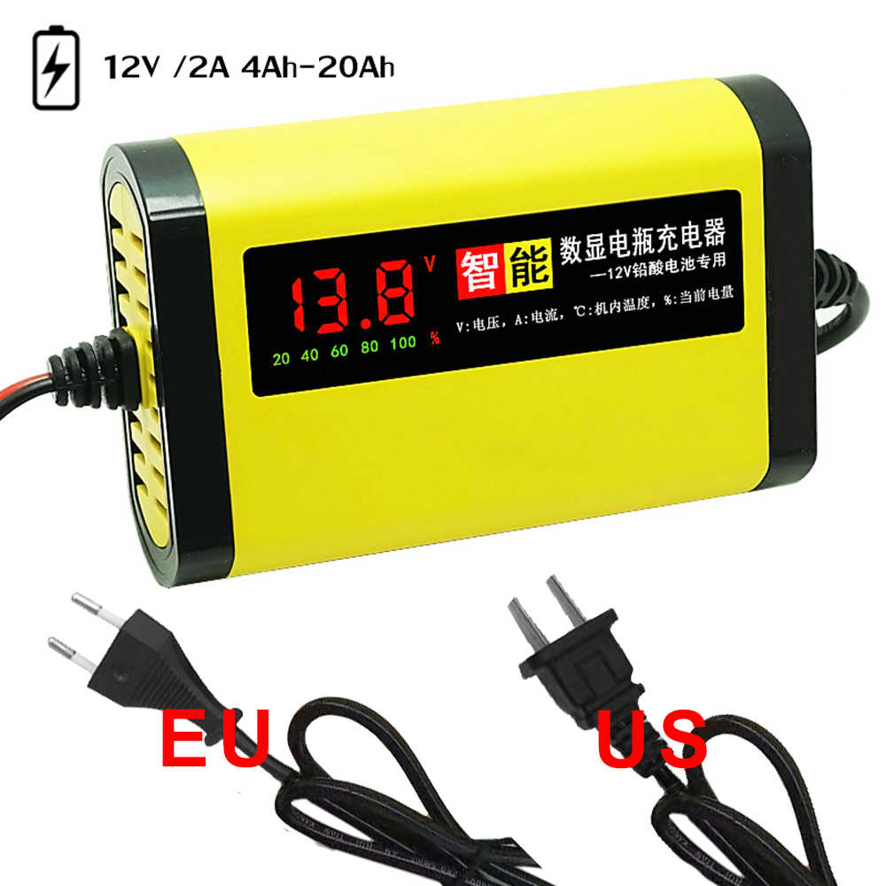 Detail Feedback Questions About Car Motorcycle Battery Charger 12v 6v 2a Lead Acid With Short Circuit Protection Full Automatic 3 Stages Agm Gel Intelligent Lcd