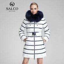 САЛКО Бесплатная доставка в 2016 году новый енот шерсти MS россии монополии в долгосрочной капюшоном вниз пальто