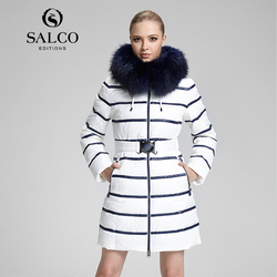 SALCO Free shipping In 2016 the new raccoon wool ms Russia's monopoly in the long hooded down coat