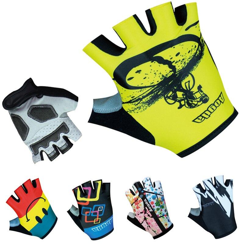 Prix pour 100% Lycra Respirant Vélo De Course Cycle Gant/Noir Gel Pad Vélo Gants 2016 Pro Marque Mountain Road Bike Sport gants
