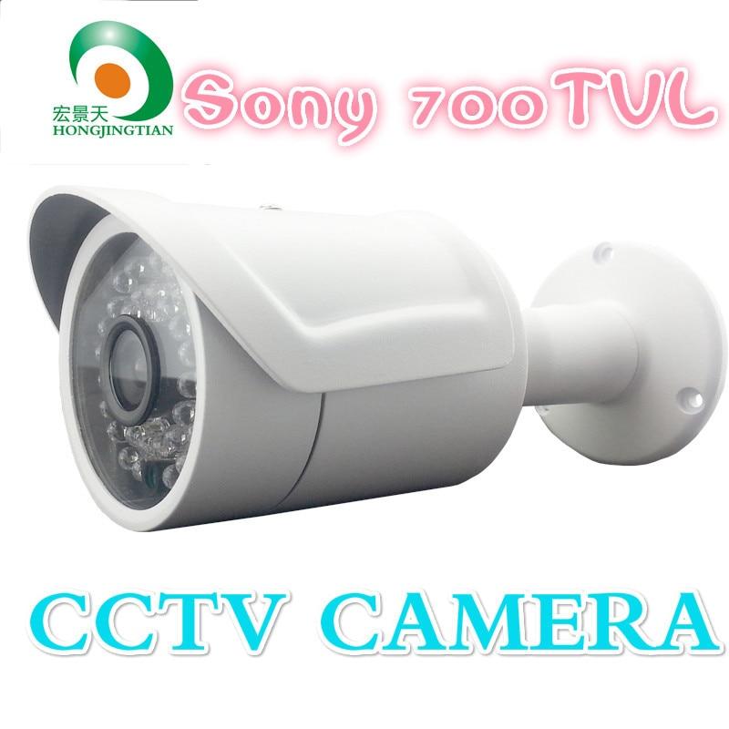 ФОТО IR-CUT camera 700TVL 24pcs IR leds Security Camera waterproof CCTV camera with bracket  Free Shipping