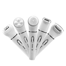 5 in 1 Women Epilator No Pain Body Hair Removal Kit Lady Shaver Foot Callus Remo