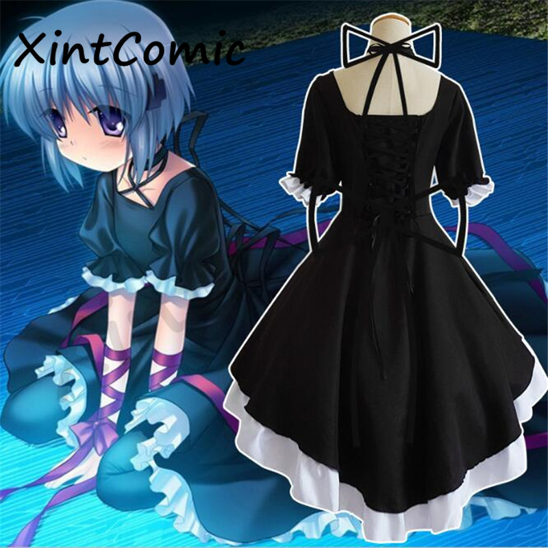 Japanese Anime Rewrite Kagari Cosplay Costume Adult Girls Lolita Maid Masquerade Uniform Stage Suit Free Shipping
