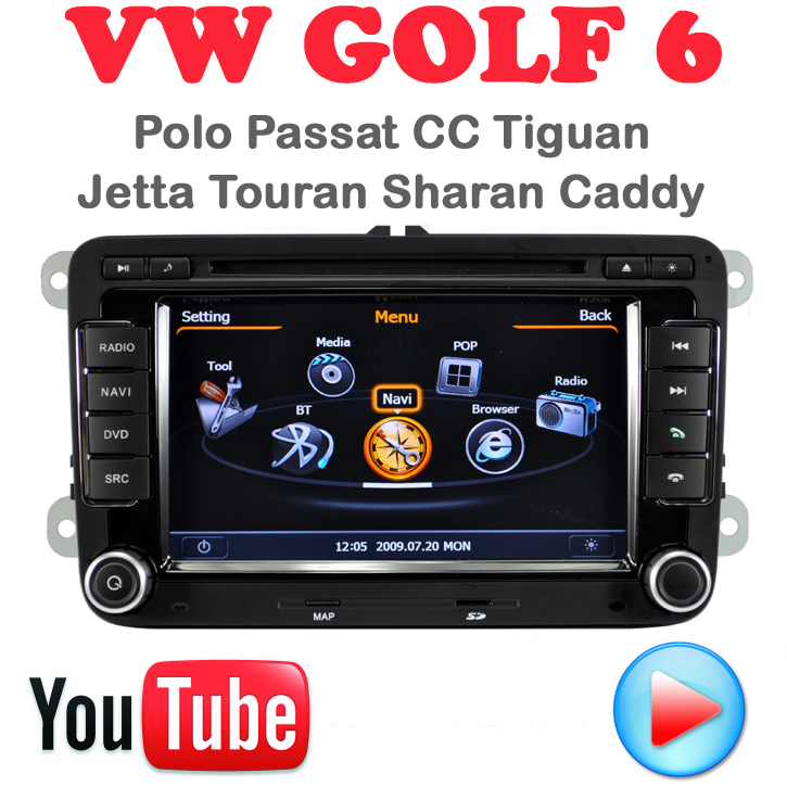 Car DVD VW Golf 6 Polo Passat CC Jetta Tiguan Touran EOS Sharan Scirocco caddy car pc GPS Navigation 3G wifi multimedia centre - Quick Krist's store