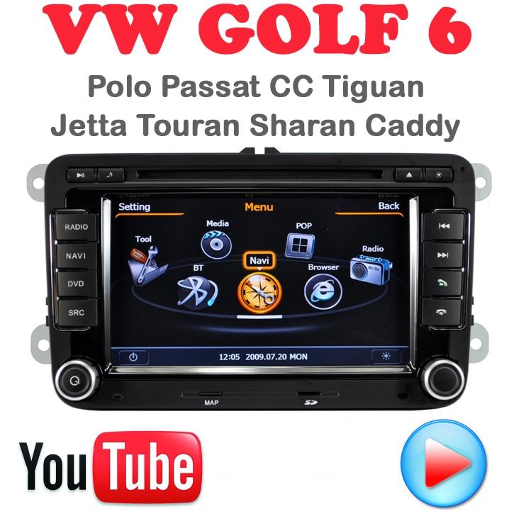 Car DVD VW Golf 6 Polo Passat CC Jetta Tiguan Touran EOS Sharan Scirocco caddy car pc GPS Navigation 3G wifi multimedia centre - Quick Krist's store