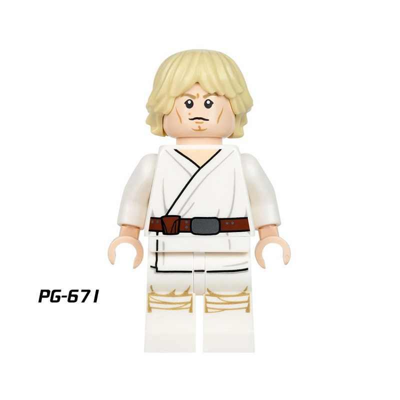 Enkele Koop Starwars Embo Luke Jawa Legoingly Figuur Unduli Qui-Gon Jinn Ahsoka Death Star Droid Bouwstenen Model speelgoed