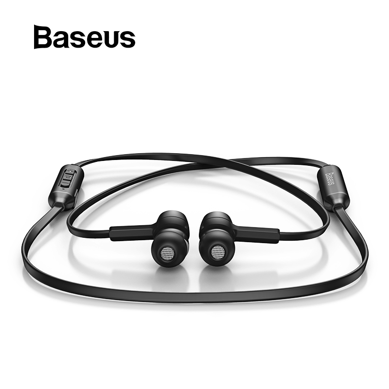 Baseus S06 Bluetooth Earphone Wireless Magnetic Neckband Earbuds Handsfree Sport Stereo Earpieces For Samsung Xiaomi With MIC antik siyah kulp