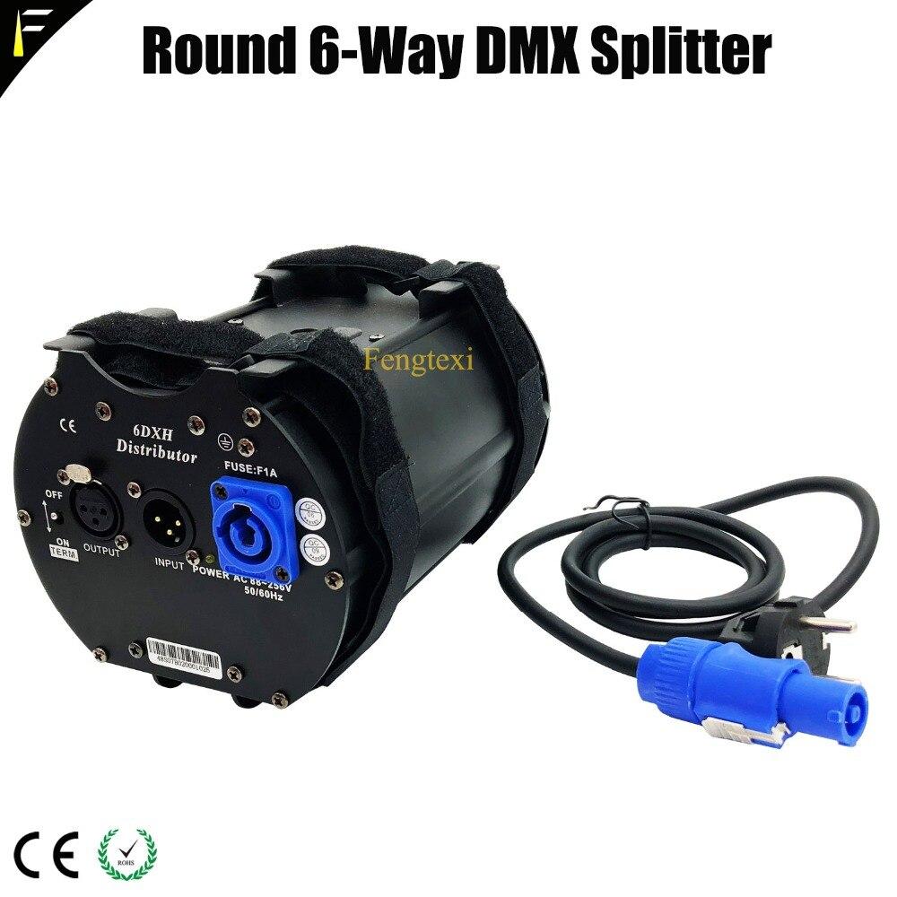 Disco Light Equipment 6 DX DMX Way Distributor With Original neutrik-3pins XLR Module DMX Splitter 6 Channels Separately Power neutrik nc3mxx bag