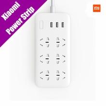 Оригинальный Xiaomi mijia Мощность полосы 2A быстрой зарядки 3 USB разъем расширения 6 Стандартный гнездо адаптера