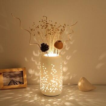 Creative Retro American Ceramic Table Lamp Bedroom Bedside Lamps Art Deco Light Decorative Lights DeskLamp Table Lamps Modern фото