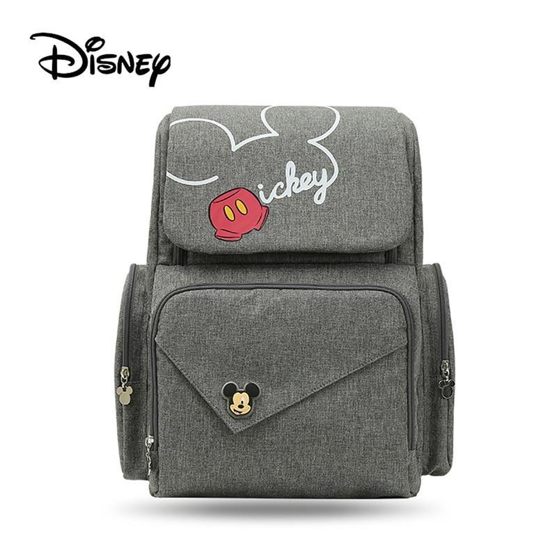 Sac momie Disney Mickey Minnie sac à langer bébé sac à langer Bolso femme enceinte sac à pousser bébé sac à dos Nappy sac femme enceinte