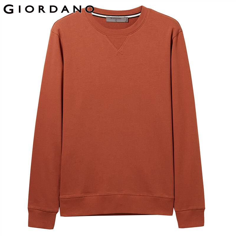 Giordano Men Sweatshirt Solid Pullover Sweatshirt Men Long Sleeve Fashion Terry Mens Clothes Sudadera Hombre Moleton Masculino 2