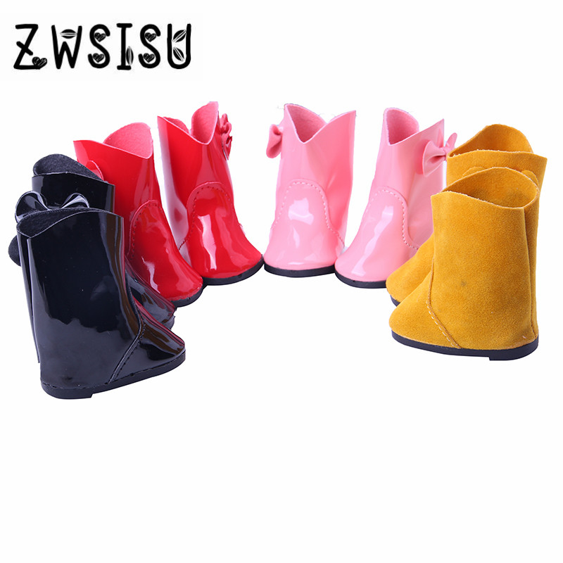Doll shoes,Four kinds Boots for 18 inch American girl doll for baby gift ,Doll accessories