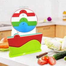 4 шт. набор пластиковых BPA бесплатно fda утвержденных красочные кухня Резка доска Разделочные доски для Бесплатная доставка