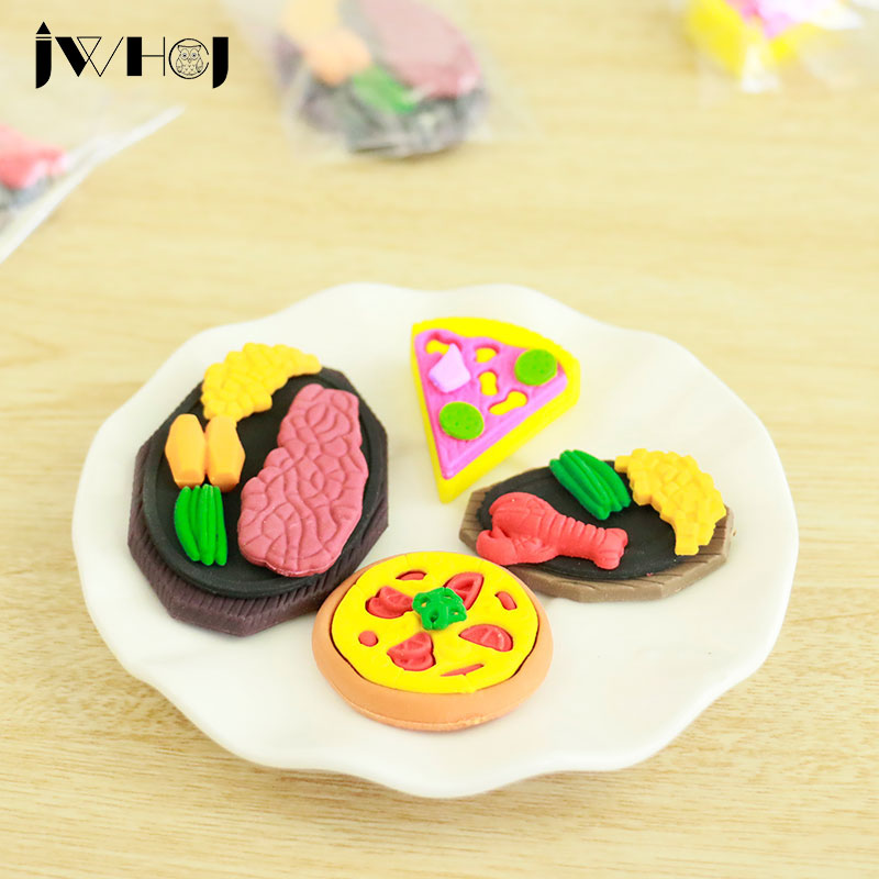 1 Pcs  Novelty Cartoon Food Modelling Eraser Kawaii Stationery School Office Supplies Correction Supplies Child's Toy Gift