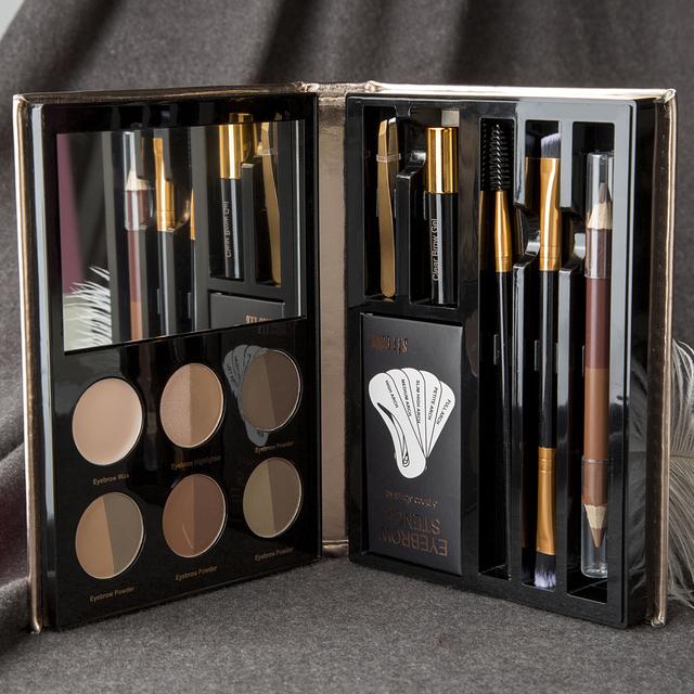 Waterproof Eyebrow Makeup 12 Pcs Set