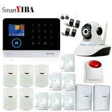 SmartYIBA 3G WIFI Burglar Alarm System Wireless Home Security Alarm System APP Control PET immune PIR Detector Video IP Camera