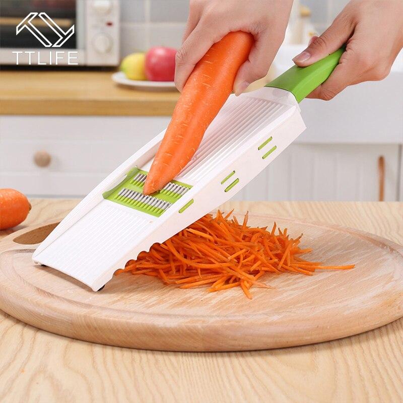 TTLIFE Küche tragbare Mandoline Slicer Gemüseschneider mit 5 - Küche, Essen und Bar - Foto 4