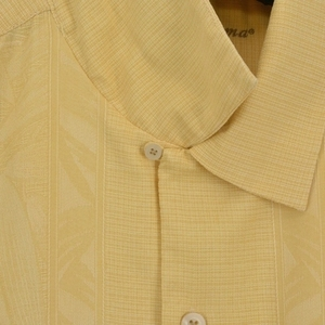 Image 3 - 8 farben 100% Seide Mann Hemd UNS größe Einfarbig Floral Männer Casual Shirt Camp Kurzarm drehen unten kragen Plus große Sommer